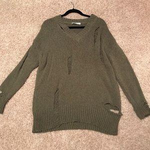 Zara Ripped Sweater